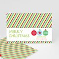 Weihnachtskarte Gestreift - 1