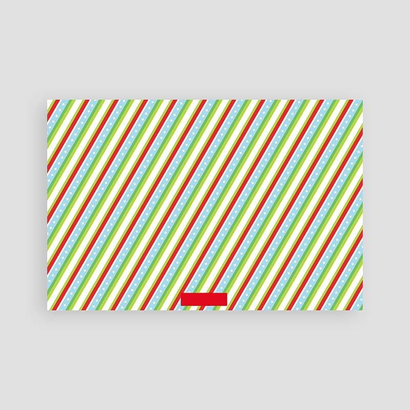 Weihnachtskarten Streifendesign pas cher