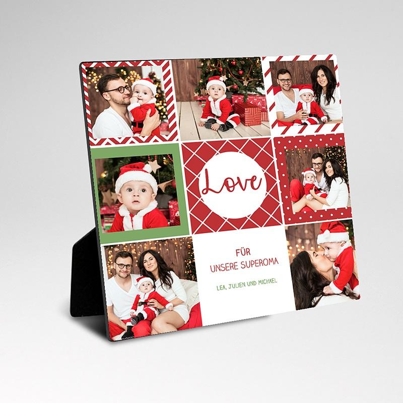 Fotos im Rahmen Pixel Weihnachten  pas cher