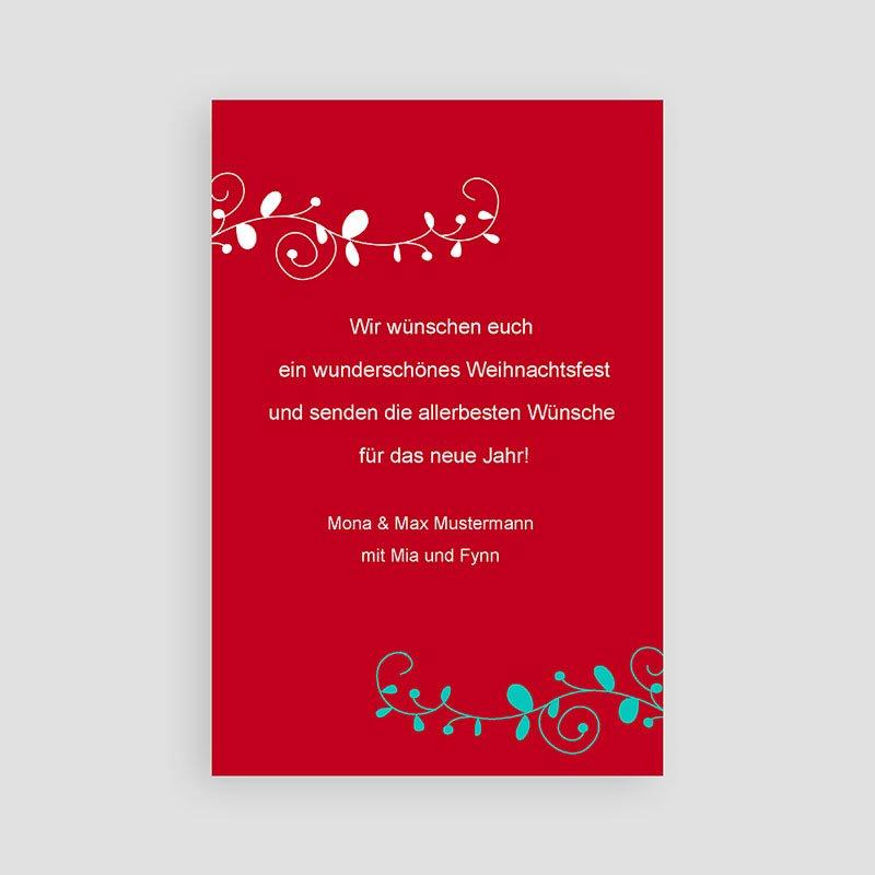 Weihnachtskarten Vöglein pas cher