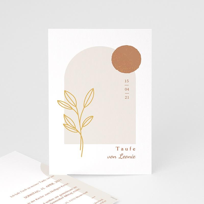 Einladungskarten Taufe  Segnung, Hostie mit Goldzweig