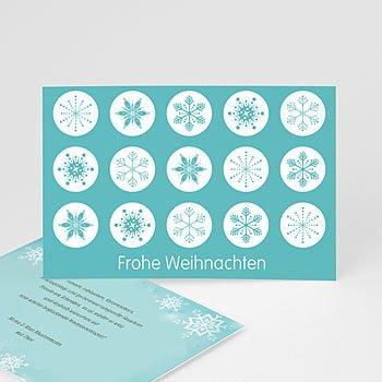 Weihnachtskarten - Weihnachtskarte Schneekristalle - 1