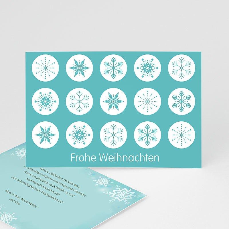 Weihnachtskarten Schneekristalle