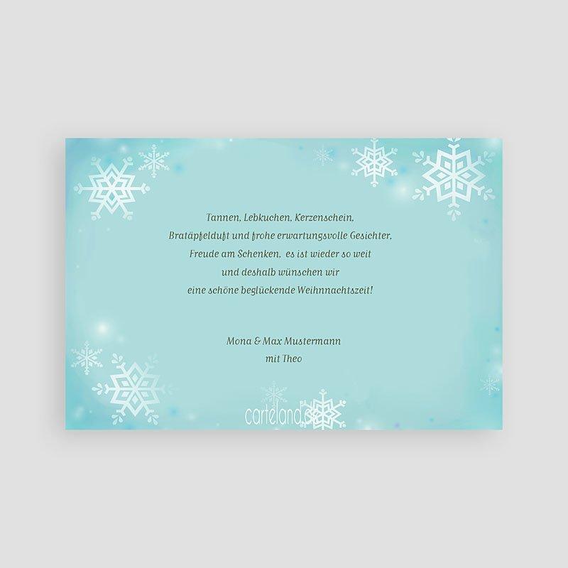 Weihnachtskarten Schneekristalle pas cher