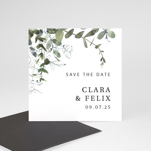Save The Date Magnet Hochzeit Eucalyptus, floral, Magnete 9 x 9