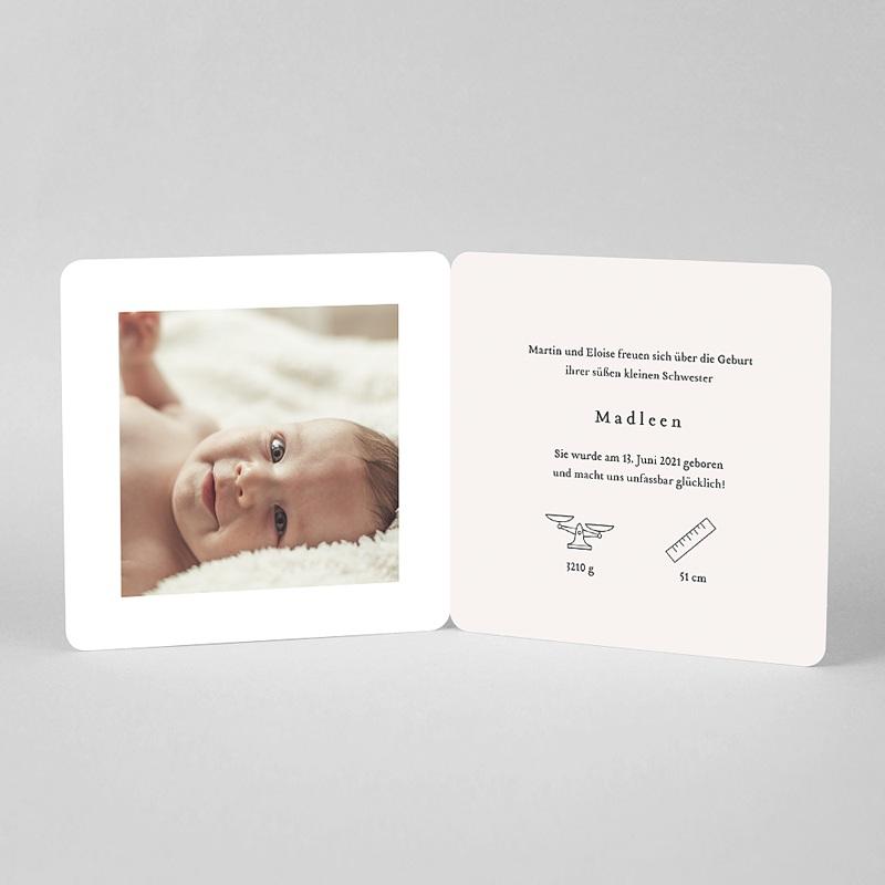 Geburtskarten 3 Kinder, ältere Geschwister, braun/blond pas cher