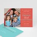 Weihnachtskarte Pfirsischfarben - 1