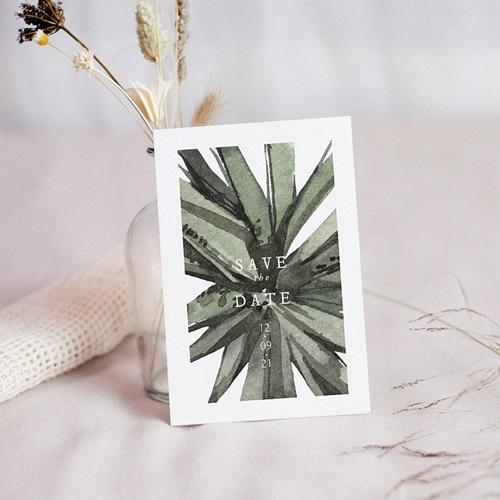 Save The Date Karten Hochzeit Aloe Extravaganz, Tropical Chic, Stichtag