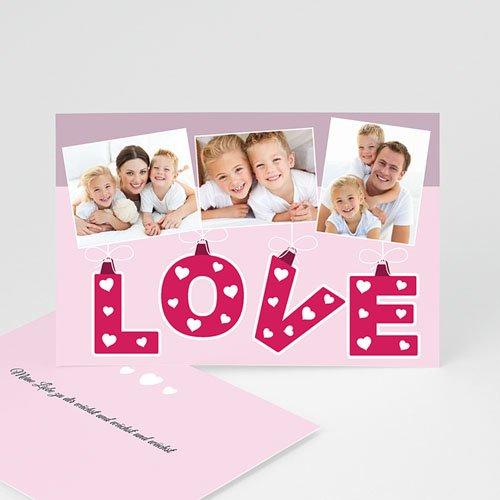 Karten zum Valentinstag - Love 9526