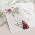 Natur Hochzeitseinladungen Blumige Harmonie, Dahlie & Farne, 15 x 21 cm pas cher