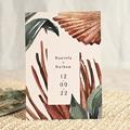 Elegante Hochzeitseinladungen Palma Terracotta, Tropical chic, 15 x 21 cm gratuit
