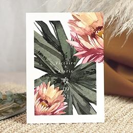 Natur Hochzeitseinladungen - Aloe Extravaganz, Tropical Chic,15 x 21 cm - 0