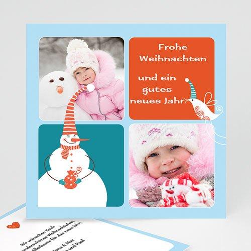 Weihnachtskarten - Schneemann 9534