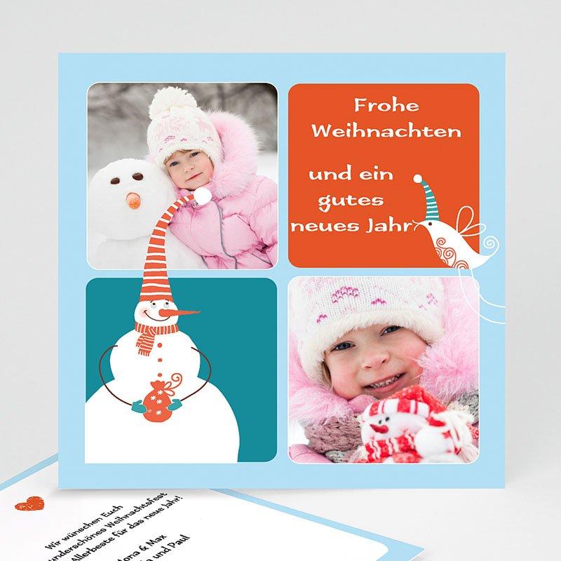 Weihnachtskarten Schneemann