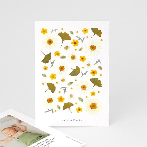 Dankeskarten Geburt für Mädchen Sonnenherbarium, Portrait