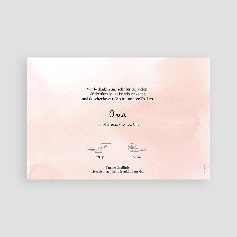 Rosa Geburtskarten Kleine Füße in Rosa und Gold pas cher