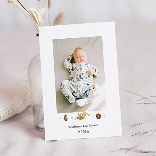 Geburtskarten Der Kleine Prinz Der kleine Prinz als Abenteurer, Foto, 12 x 16,7 cm