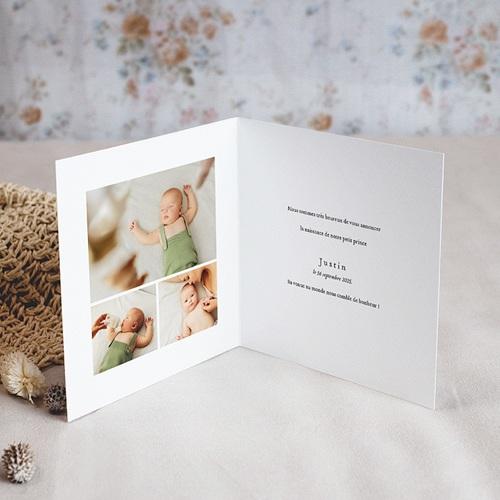 Geburtskarten Der Fuchs des kleinen Prinzen, Klappkarte pas cher