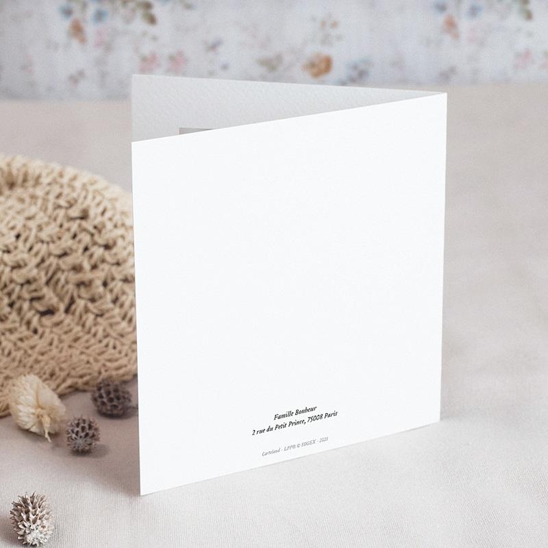 Geburtskarten Der Fuchs des kleinen Prinzen, Klappkarte gratuit