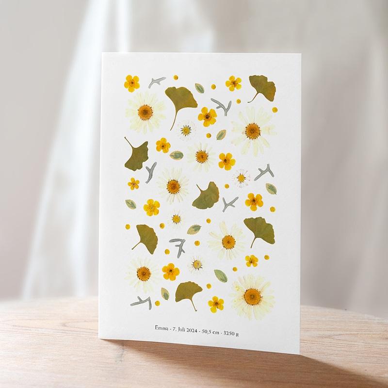 Geburtskarten Sonnenherbarium 15 x 21 cm