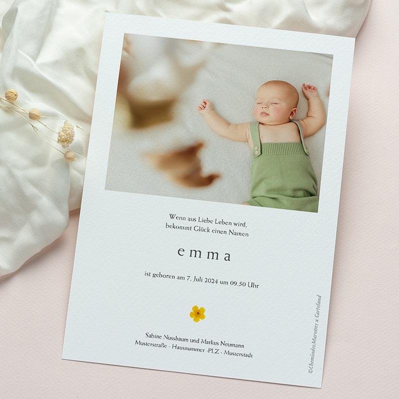 Geburtskarten Sonnenherbarium 15 x 21 cm gratuit