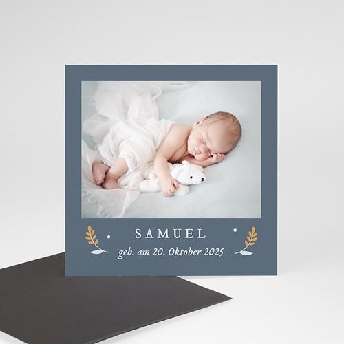 Dankeskarten Geburt Magnet Liberty Junge, Fotomagnete, 9 x 9