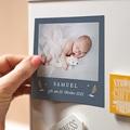 Dankeskarten Geburt Magnet Liberty Junge, Fotomagnete, 9 x 9 pas cher