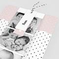Geburtskarten Pastell-Rosa, 3 in 1 pas cher