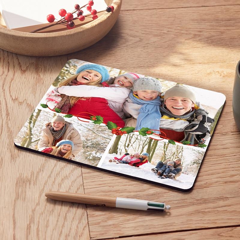 Personalisierte Foto-Mousepad Weihnachtlich