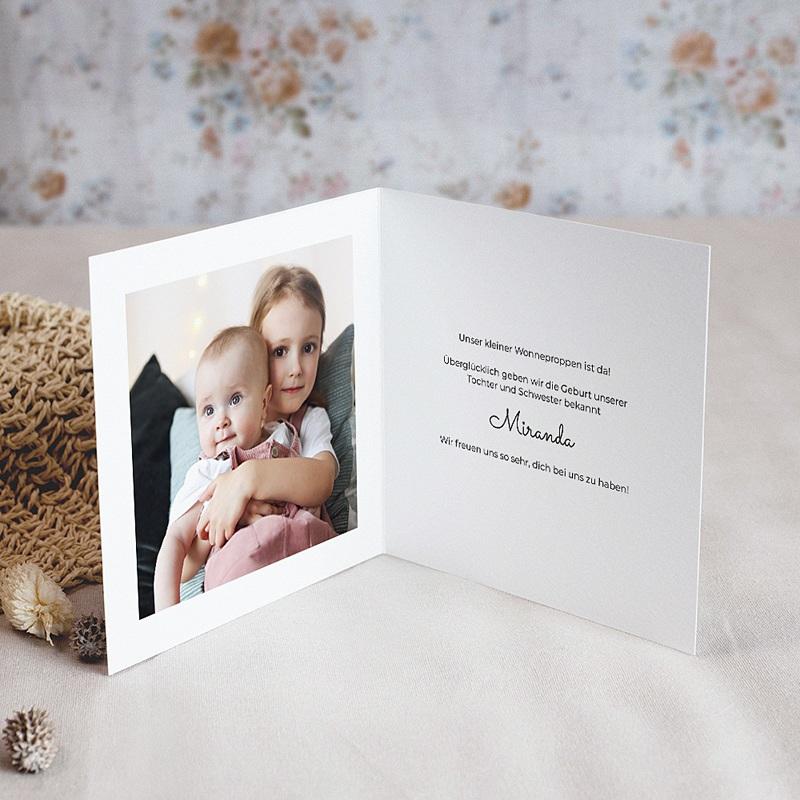 Geburtskarten Sisters' Love, Klappkarte pas cher