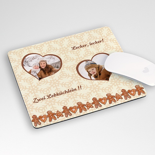 Personalisierte Foto-Mousepad Lebkuchen