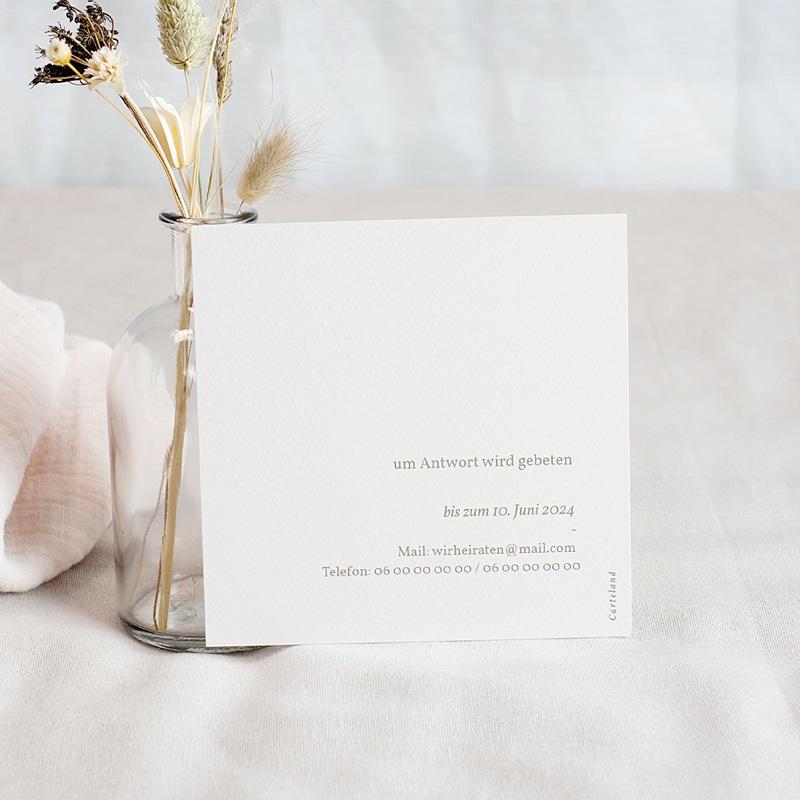 Antwortkarten Hochzeit Viva la Pampa, u.A.w.g 10 x 10 cm pas cher