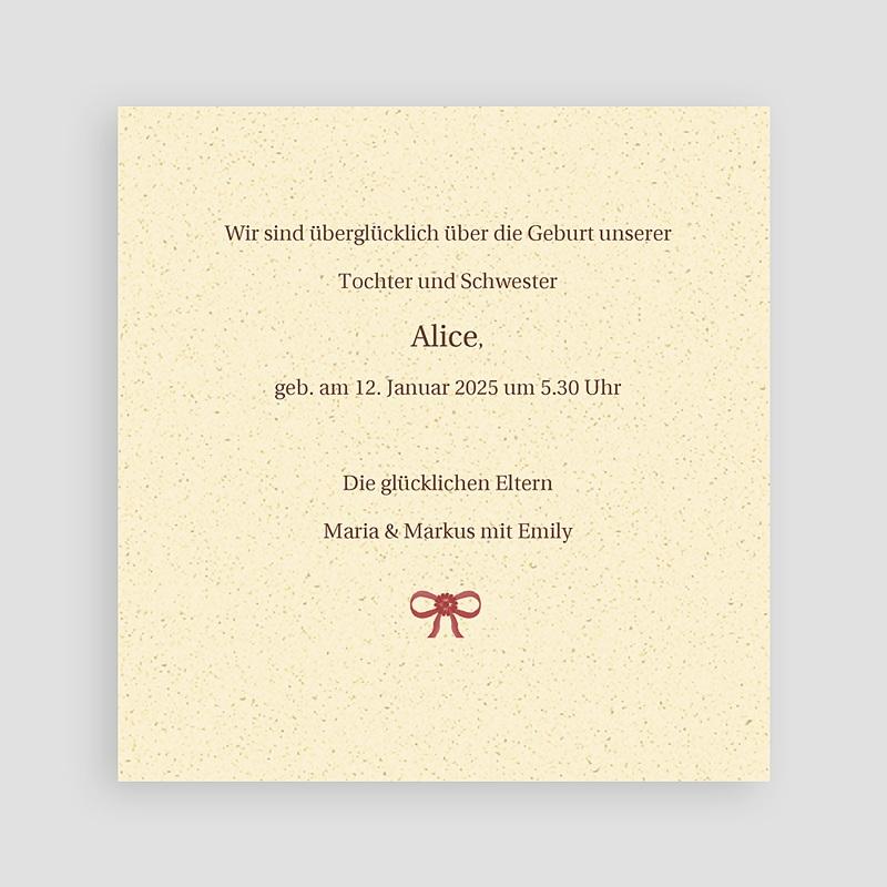 Geburtskarten für Mädchen Alice pas cher