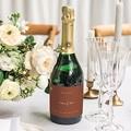 Flaschenetiketten Hochzeit Silhouette, Wiesenblumen, Sekt gratuit