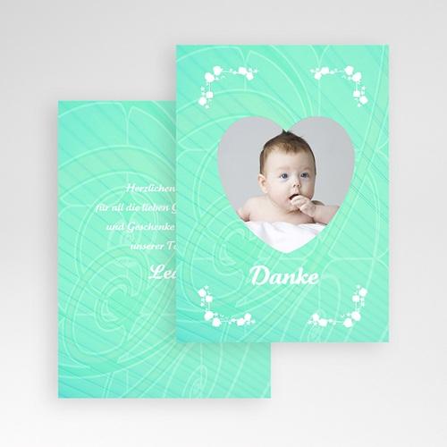 Dankeskarten Geburt Mädchen - Herzchenrahmen 9663 preview