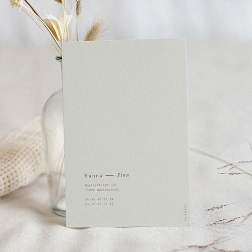 Hochzeitseinladungen Lilien, minimalistisch, Grau-Beige, 12 x 16,7 pas cher