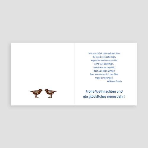 Weihnachtskarten - Vögel im Schnee 9674 preview