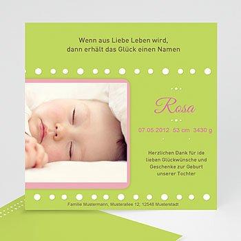 Geburtskarten für Mädchen - Babykarte doppeltes glück - 1