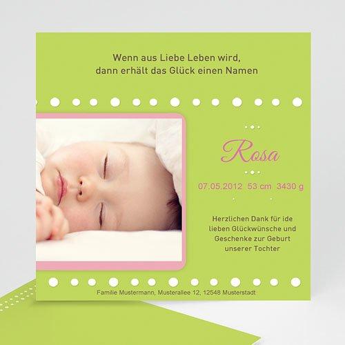 Geburtskarten für Mädchen - Pastell 968