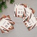 Tischnummer Hochzeit Palma Terracotta, Tropical chic, Satz von 12