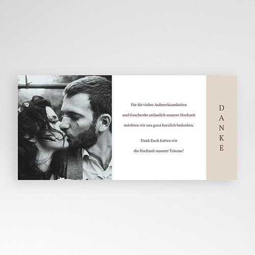 Dankeskarten Hochzeit Kirschbaum als Silhouette, überstehende Klappkarte pas cher
