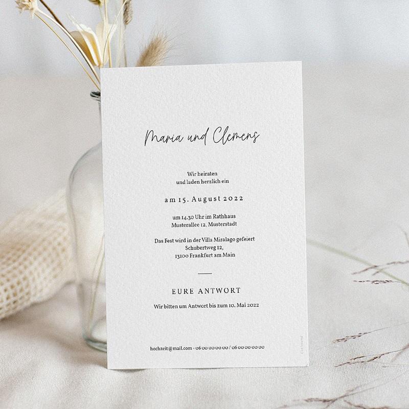 Hochzeitseinladungen Olivenzweig, Aquarell, 12 x 16.7 cm pas cher