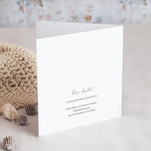 Hochzeitseinladungen Blumenkranz, Aquarell, Klappkarte, 14 x 14 cm gratuit