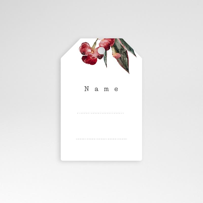 Tischnummer Hochzeit Roter Blumenstrauß, Gast