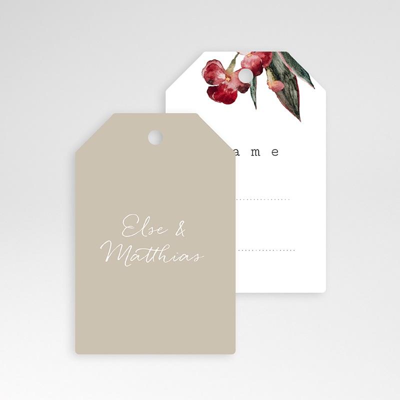 Tischnummer Hochzeit Roter Blumenstrauß, Gast pas cher