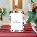 Tischnummer Hochzeit Roter Blumenstrauß, 3-er Satz gratuit