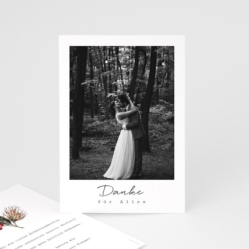 Dankeskarten Hochzeit Roter Blumenstrauß, Foto