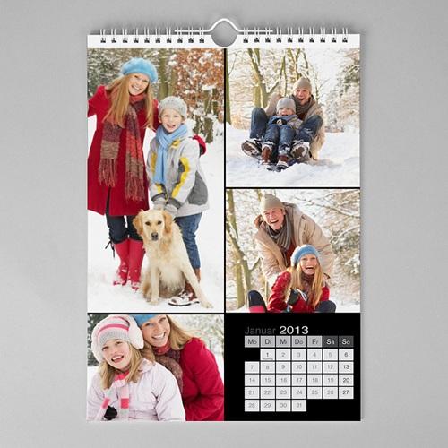 Wandkalender Kalender - multifoto - schwarz