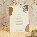 Hochzeitseinladungen Boho, Palme, Beige pas cher