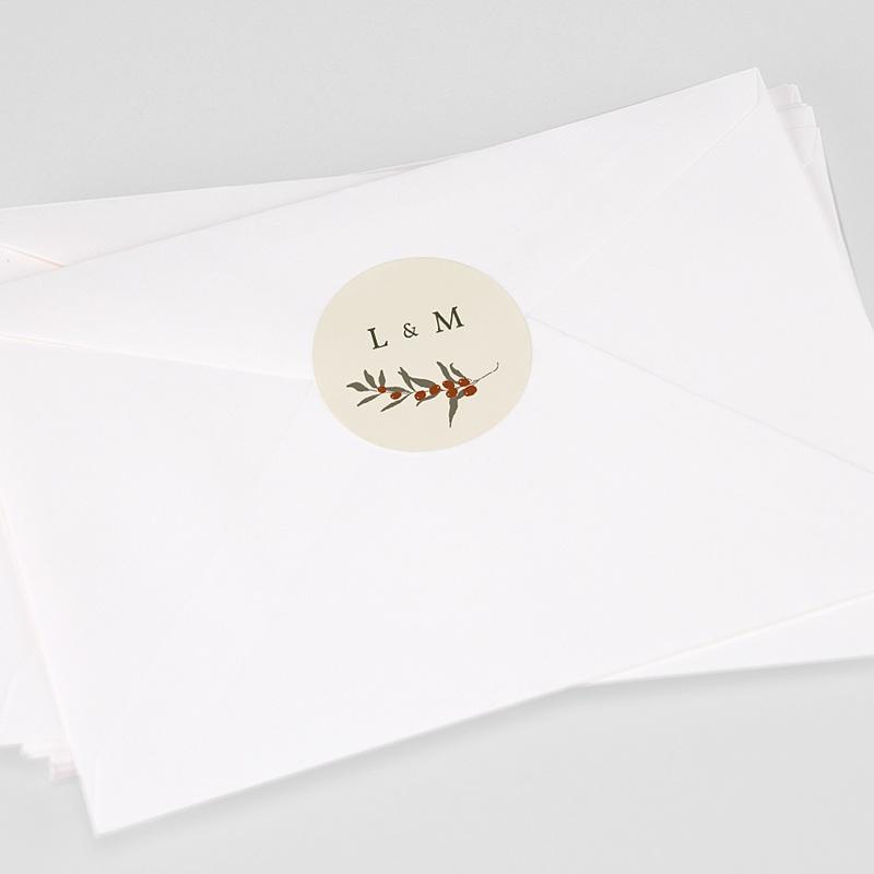 Aufkleber Hochzeit Olivenzweig, Boho, 4.5 cm